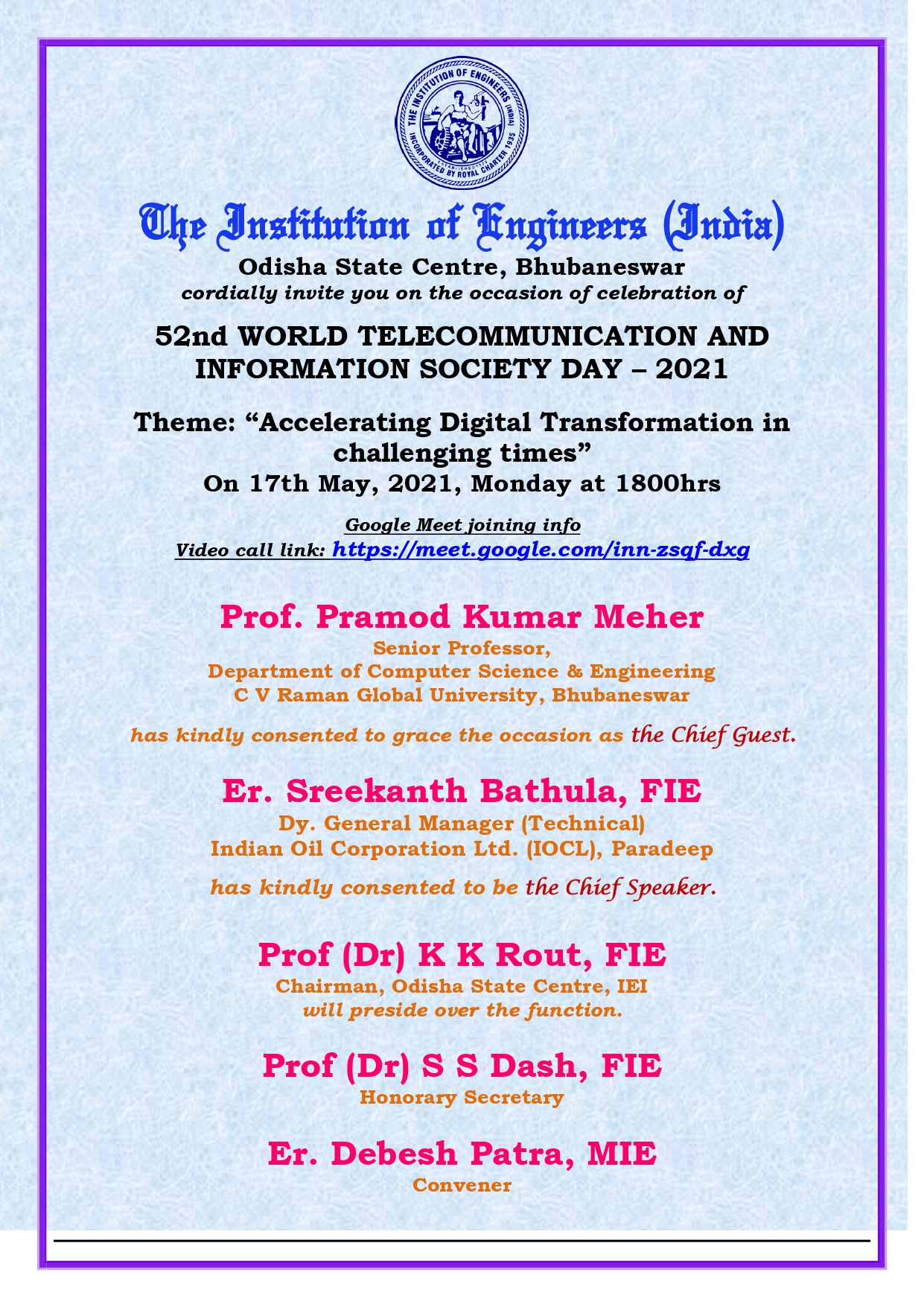 Invitation Card of 52nd WORLD TELECOMMUNICATION AND INFORMATION SOCIETY DAY - 2021_page-0001